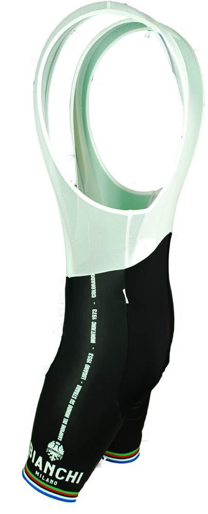Bianchi Milano Victory Black Bib Shorts Front fe774e8a5