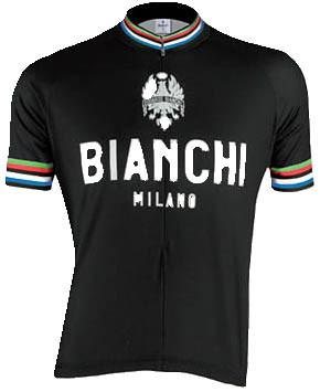 Bianchi Milano Pride Black Jersey Front View 8e0da5bac