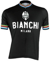 Bianchi Milano Pride Black Jersey Front View