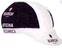 Bianchi Milano Neon Black White Cap Front View