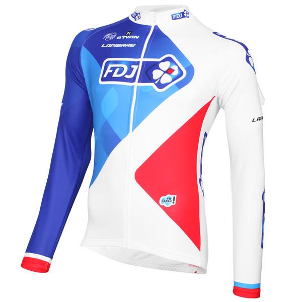 2015 FDJ Long Sleeve Jersey Front
