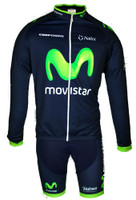 2015 Movistar America Long Sleeve Jersey Front