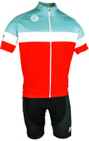 BlueLine Paceline Red Classic FZ Jersey Front