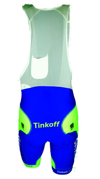 2015 Tinkoff Saxo Body Fit Pro Bib Shorts Rear