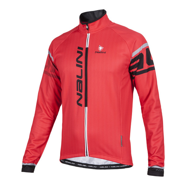 Nalini Logo Ti Red Long Sleeve Jersey Front