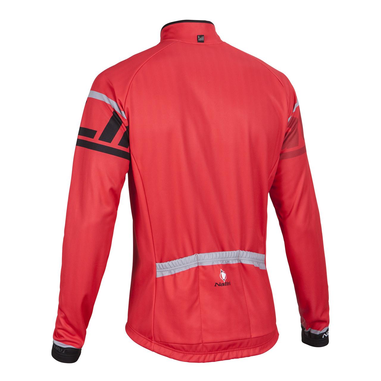 Nalini Logo Ti Red Long Sleeve Jersey Back