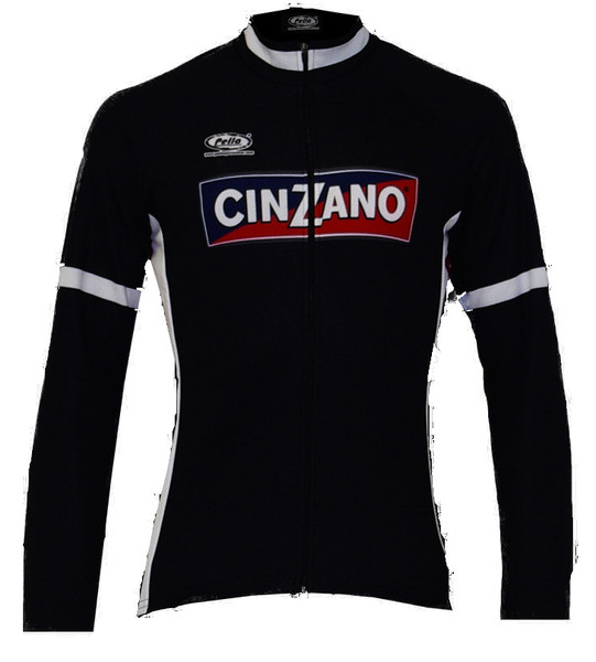 Cinzano Black Long Sleeve Jersey Front