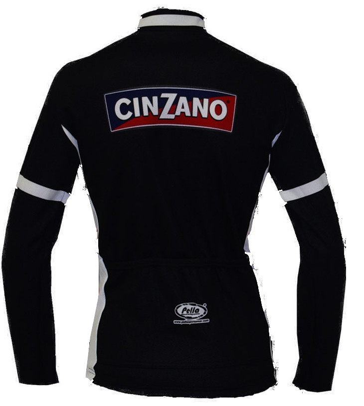 Cinzano Black Long Sleeve Jersey Rear
