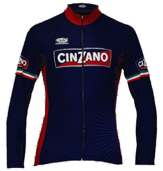 Cinzano Blue Long Sleeve Jersey Front