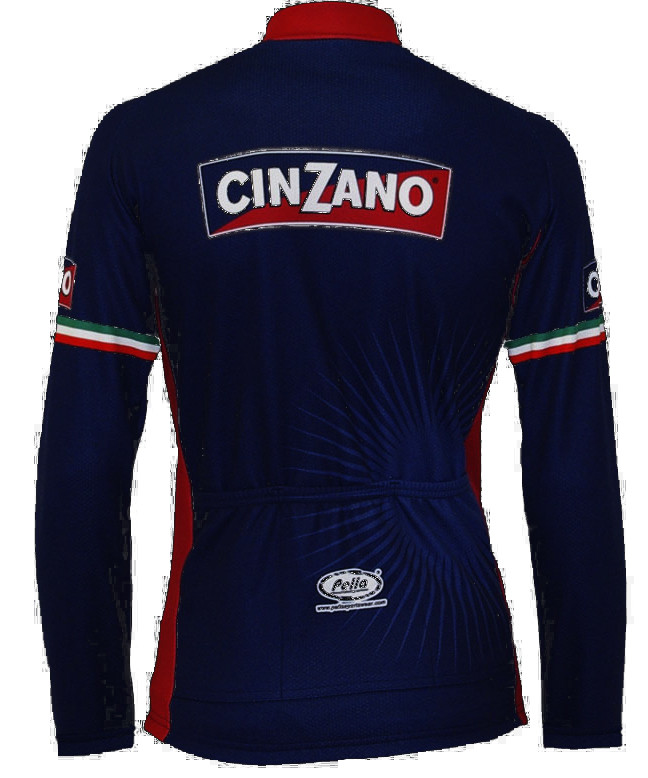Cinzano Blue Long Sleeve Jersey Rear