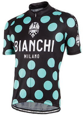 Bianchi Milano Pride Polka Dot Black Green Jersey