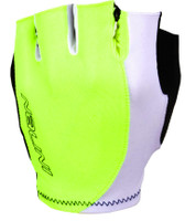 Nalini Logo Fluorescent White Gloves Front