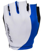 Nalini Logo White Blue Gloves Front