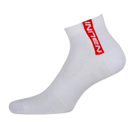 Nalini Red White Red Socks