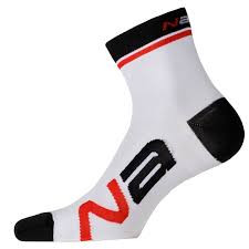Nalini Logo White Black Socks