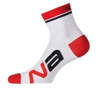 Nalini Logo White Red Socks