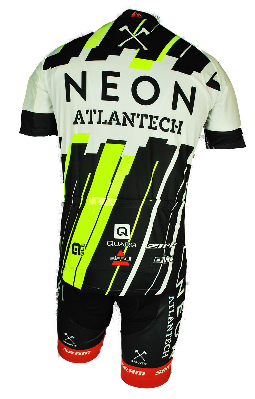 2015 Axeon Neon Atlantech Full Zipper Jersey Closeout