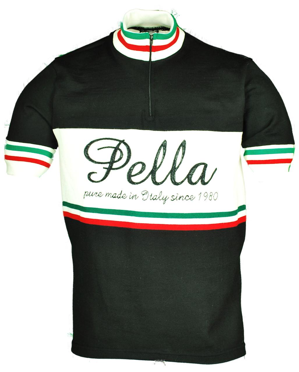 Pella Vintage Black Wool HZ Jersey