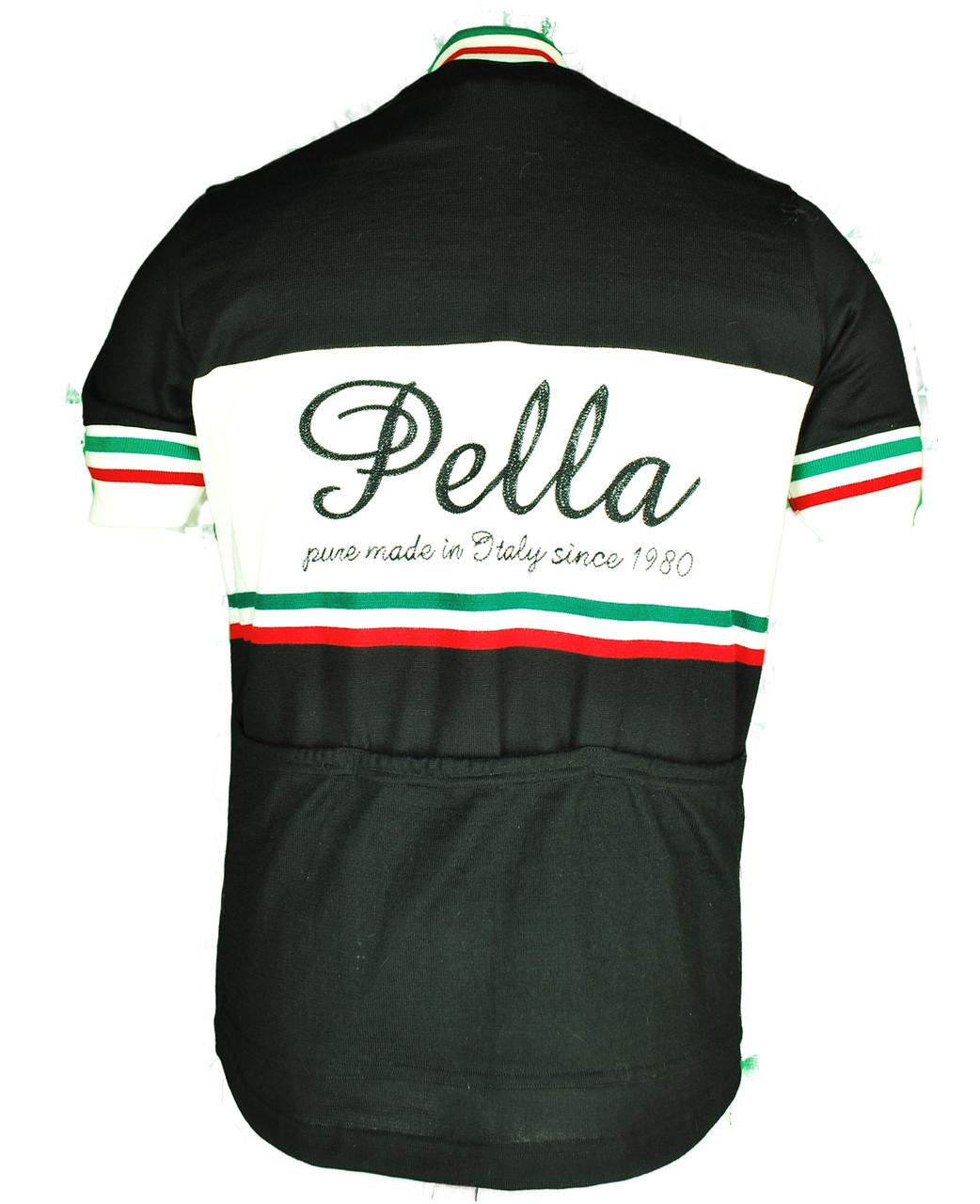 ... Pella Vintage Black Wool HZ Jersey Rear ... 8033e4d03
