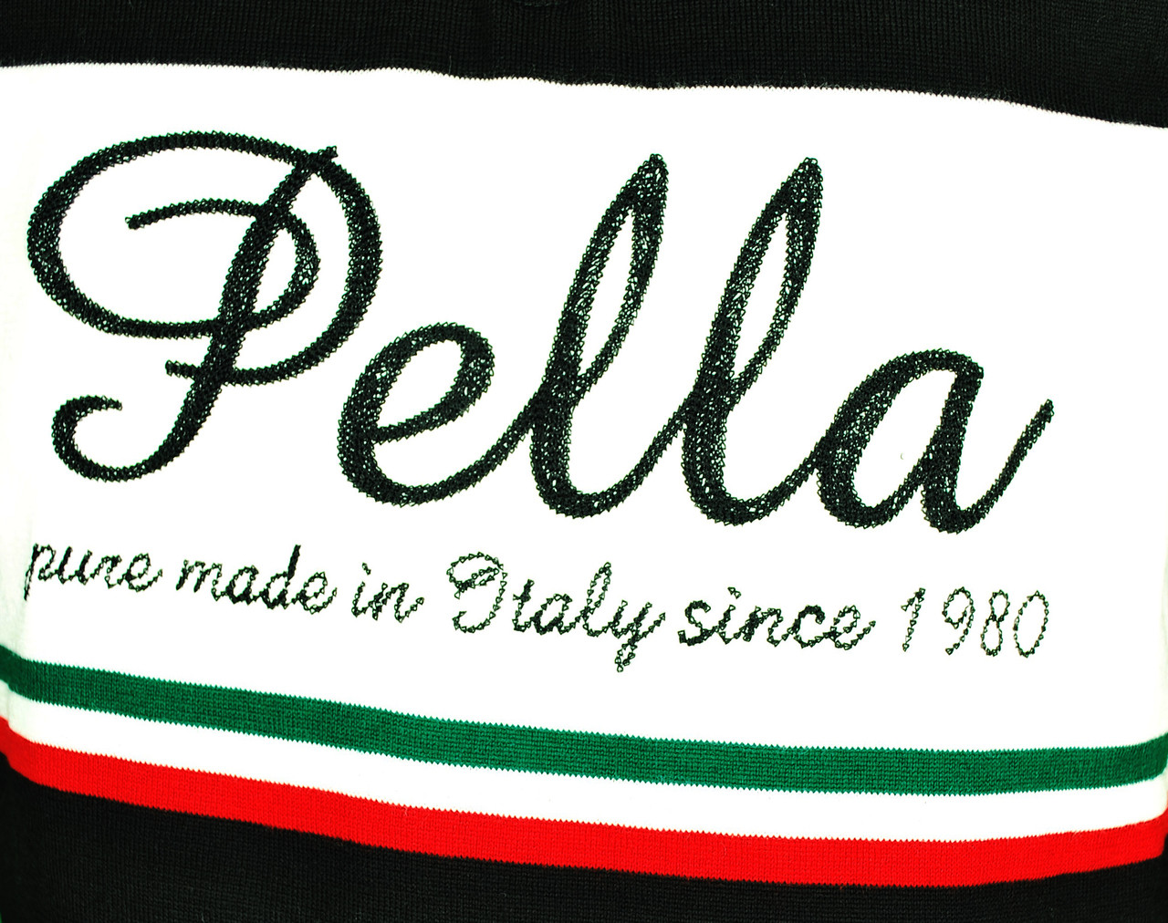 Pella Vintage Black Wool HZ Jersey Close Up