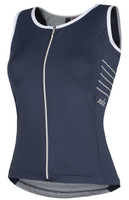 Nalini Acqua Zip Lady Crew Blue Jersey