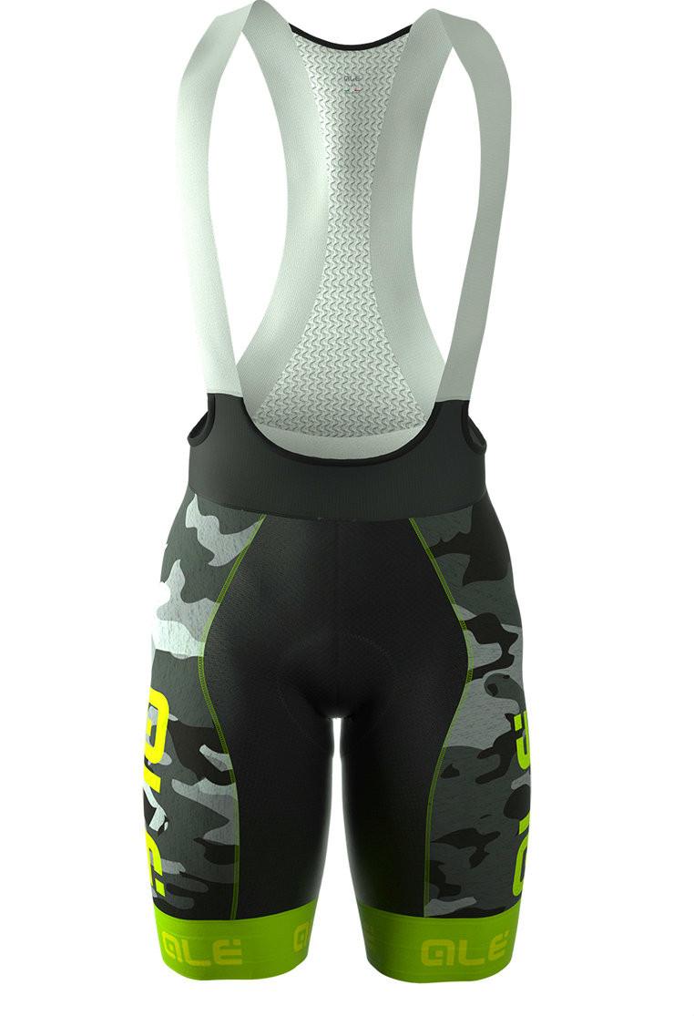 ALE PRR CAMO Green Fluo Bib Shorts