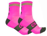 ALE Reflex Reflective 10 CM Pink Fluo Socks