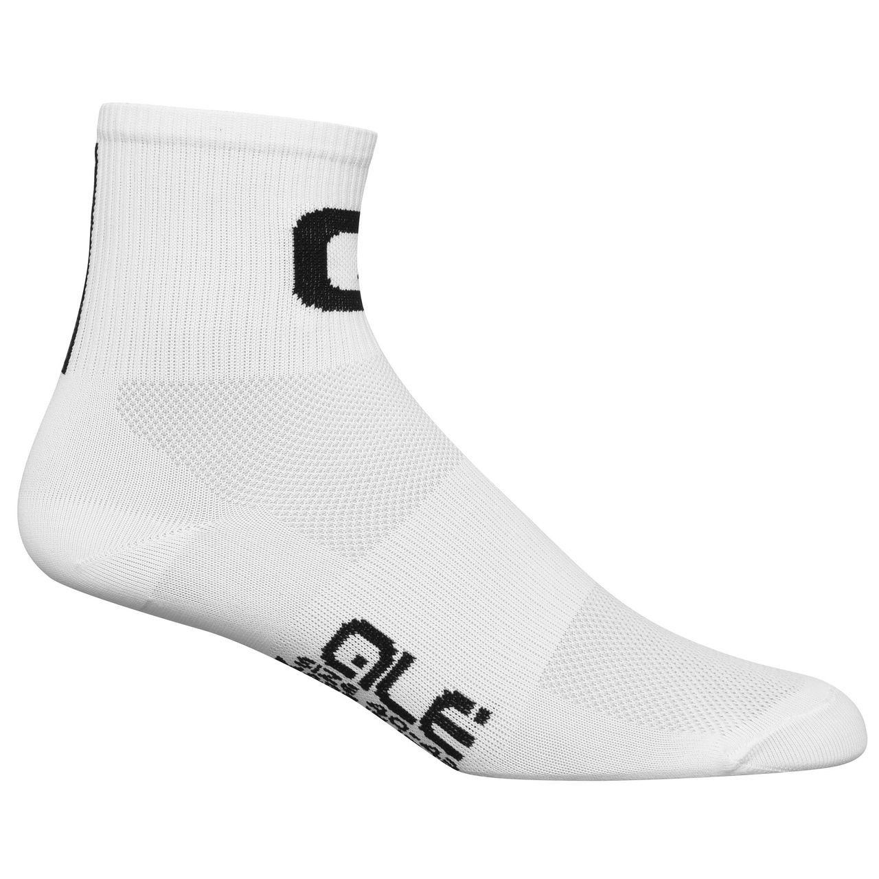 ALE Q-Skin Medium Cuff White Socks
