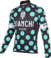 Bianchi Milano Lengenda1 Black Polka Dot Long Sleeve Jersey