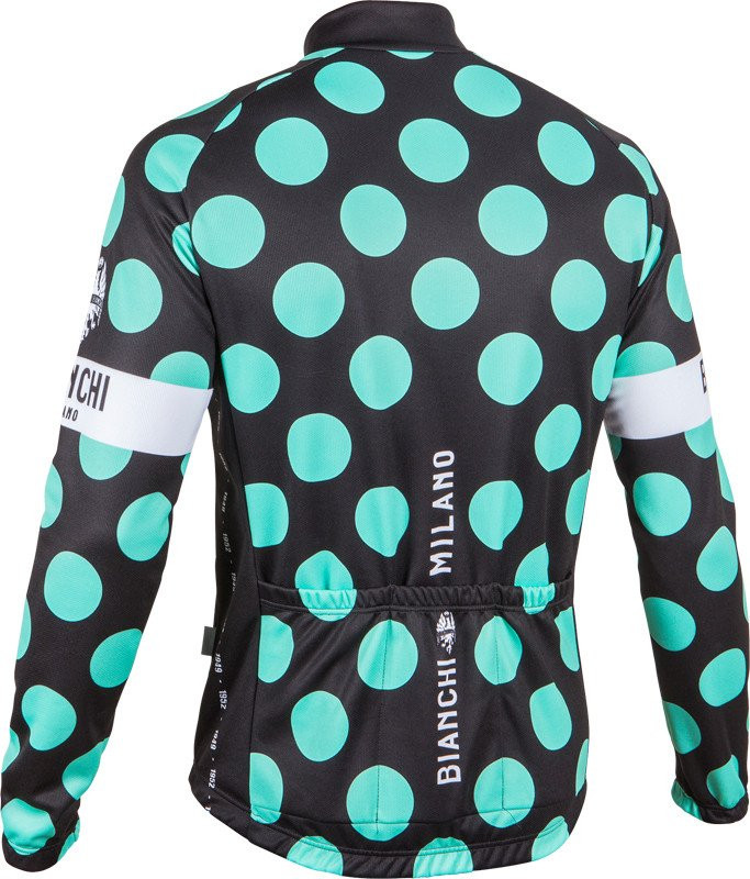 Bianchi Milano Lengenda1 Black Polka Dot Long Sleeve Jersey Rear