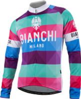 Bianchi Milano Lengenda1 Arlequin Stripe Long Sleeve Jersey