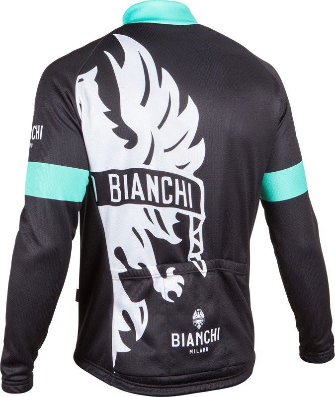 ... Bianchi Milano Sorisole Red Black Long Sleeve Jersey Rear 60e12855a