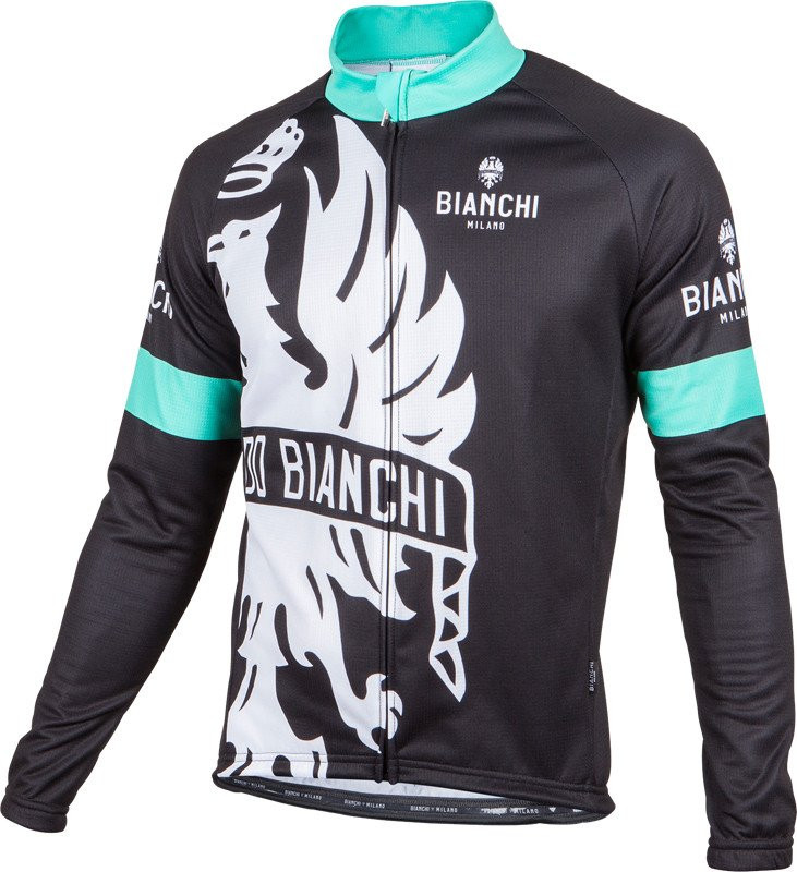 Bianchi Milano Sorisole Red Black Long Sleeve Jersey.  1e566f9e7