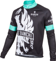 Bianchi Milano Sorisole Red Black Long Sleeve Jersey