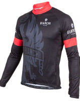Bianchi Milano Sorisole Black Green Long Sleeve Jersey