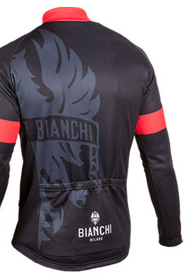 ... Bianchi Milano Sorisole Black Green Long Sleeve Jersey Rear 1a1f6578b