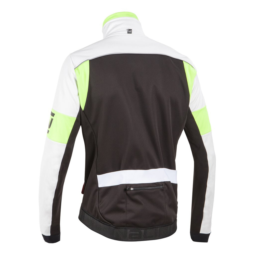 Nalini Nalini Classica Thermal Black Fluo Jacket Rear