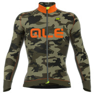 ALE Camo Orange Long Sleeve Jersey