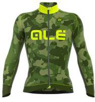 ALE Camo Yellow Long Sleeve Jersey