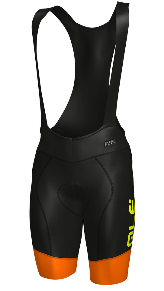 ALE Master R-EV1 Orange Black Bib Shorts