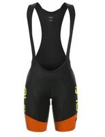 ALE Master Women R-EV1 Orange Fluo Bib Shorts