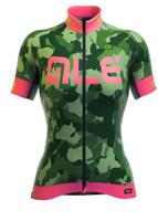 ALE Camo Women PRR Green Fluo Jersey