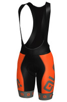 ALE Arcobaleno Women PRR Orange Grey Bib Shorts