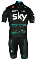2017 Team Sky Black Full Zip Jersey