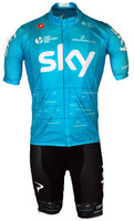 2017 Team Sky Blue Full Zip Jersey