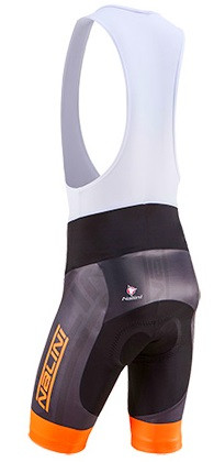 Nalini Speed Orange Black Bib Shorts Rear