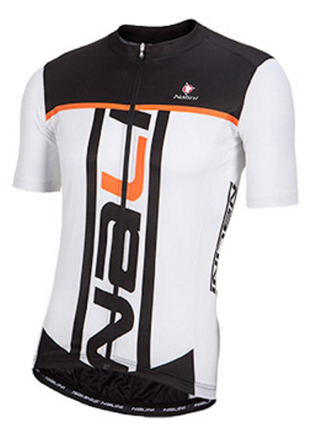 Nalini Speed Orange White Jersey Front