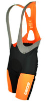 Nalini Road Man Orange Black Bib Shorts