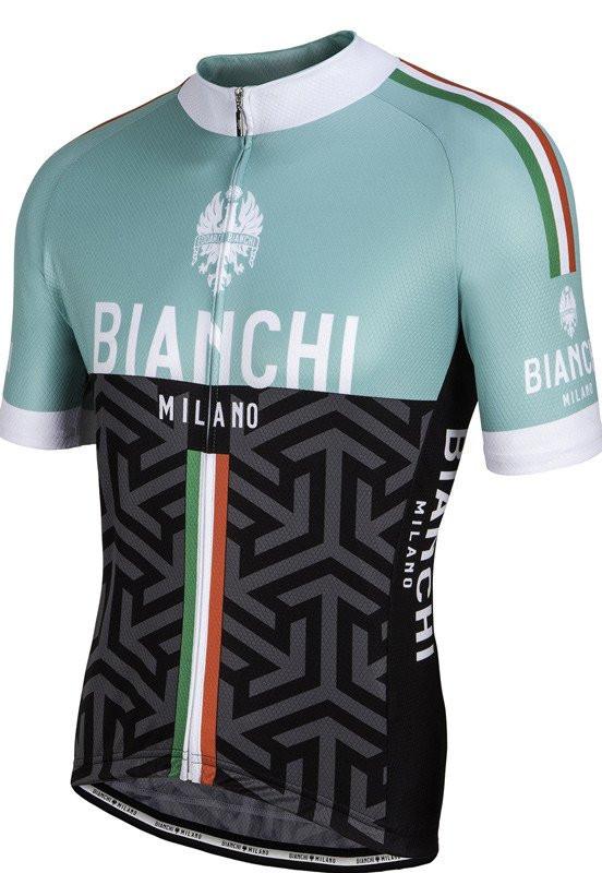 Bianchi Milano Pontesei Green Black Jersey