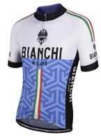 Bianchi Milano Pontesei White Blue Jersey